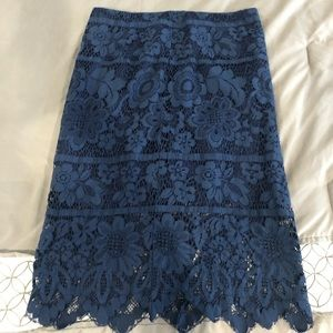 Dresses & Skirts - Blue Lace Skirt